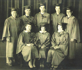 picture of Folsomville graduating class of 1950