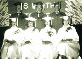 picture of Folsomville graduating class of 1954